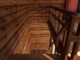 лестница со второго этажа бани