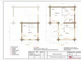 Поэтажный план бани