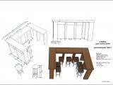 дизайн стойки для посетителей кафе Wienerwald