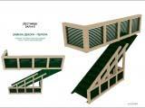 дизайн лестницы кафе Wienerwald