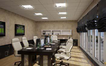 Дизайн интерьера современного офиса в разных стилевых решениях.