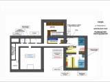 Схема расстановки оборудования и общего зонирования цокольного этажа кафе