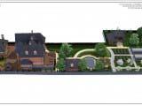 Перспектива участка и всех строений-вид сбоку