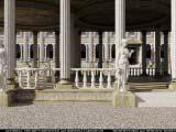 площадка для банкетов украшенная статуями, балясинами и колонами