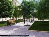 озеленение парковой территории