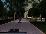расстановка света на парковой територии