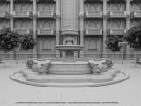 макет фонтана
