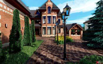 Дизайн проект загородного дома, ландшафтный дизайн.