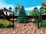 ландшафтное оформление двора