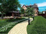 тротуарная плитка Tivoli в оформлении территории