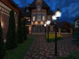 освещение двора фонари Sauro