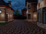 подсветка загородного дома