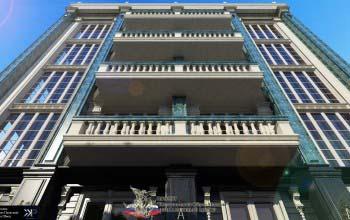 Дизайн фасада здания бизнес центра. Ландшафтный дизайн.