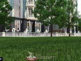 парковая территория в классическом оформлении
