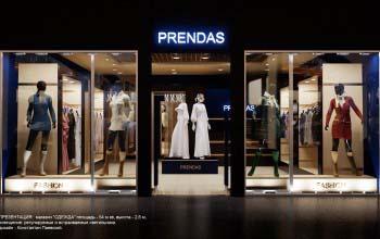 Дизайн проект магазина одежды для ТРК и ТРЦ.