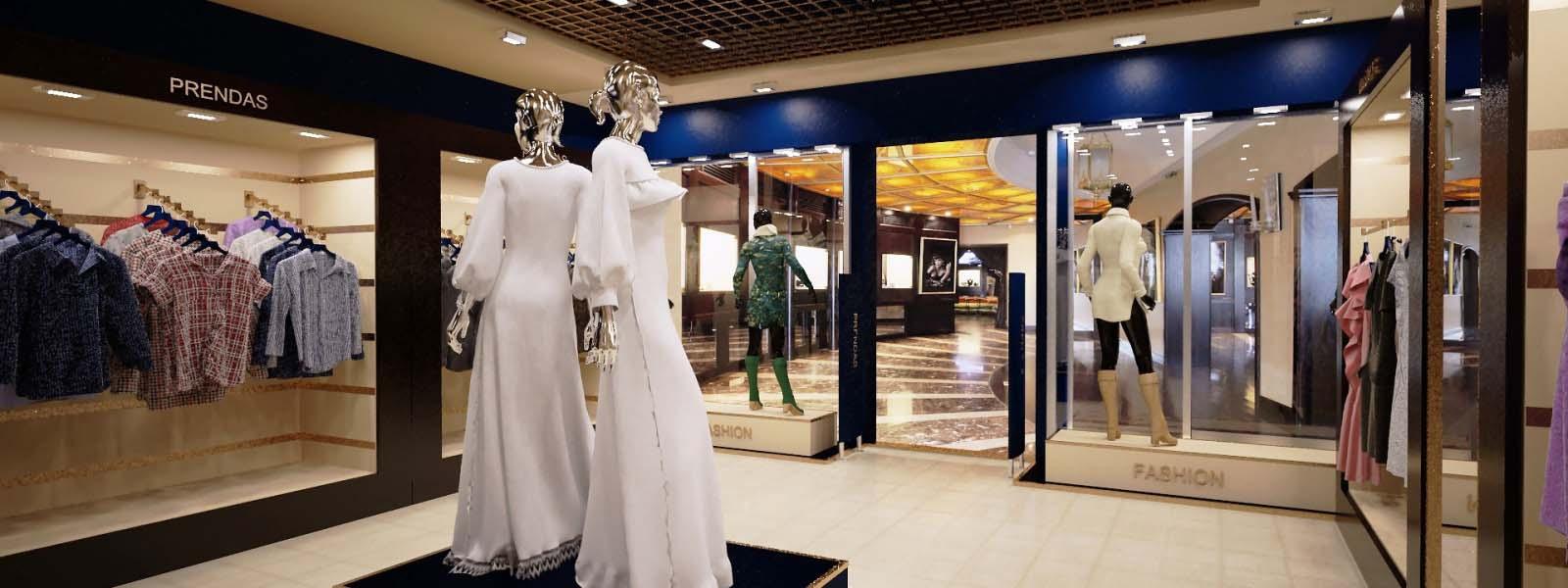 дизайн проект магазина, 3D визуализация