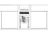проект магазина одежды эскиз развертка