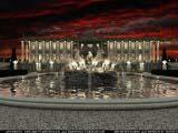 ночной образ концертного комплекса