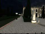 расстановка освещений статуи