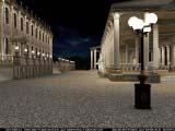 общее освещение заднего фасада и терассы