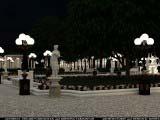 композиция из общего освещения парковой зоны