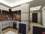 кухня с контурной подсветкой