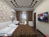 спальня в светлых оттенках