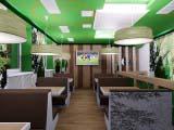 Интерьер кафе Венский лес-Wienerwald зал повышенного комфорта