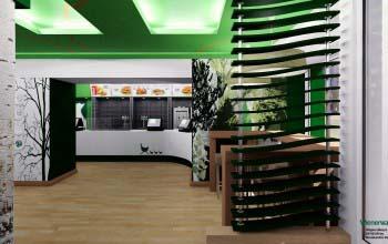 Дизайн интерьера кафе. Оформление помещения и дизайн мебели.