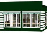 панорамные окна и маркизы кафе Wienerwald-Венский лес