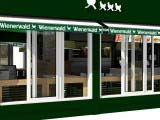 маркизы кафе Wienerwald-Венский лес