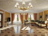 керамическая плитка в гостинной