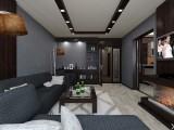 Дизайн гостиной в серых оттенках