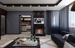 Дизайн проект интерьера квартиры в современном стиле.