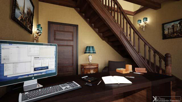 Дизайн интерьера кабинета