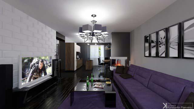 Камин в дизайне интерьера гостиной