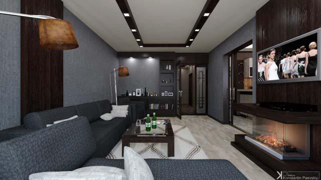 Камин в дизайне интерьера квартир