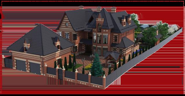 Ландшафтный дизайн участка загородного дома