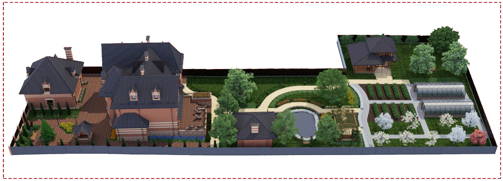 ландшафтный дизайн участка коттеджа