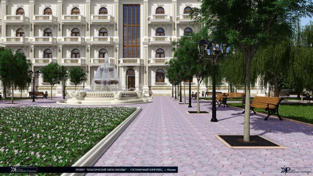 ландшафтный дизайн гостиницы-1