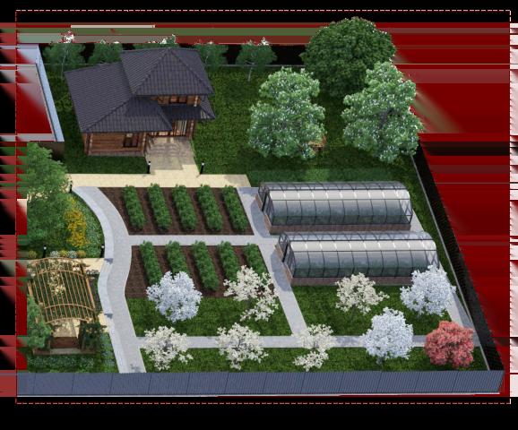 теплица загородного дома