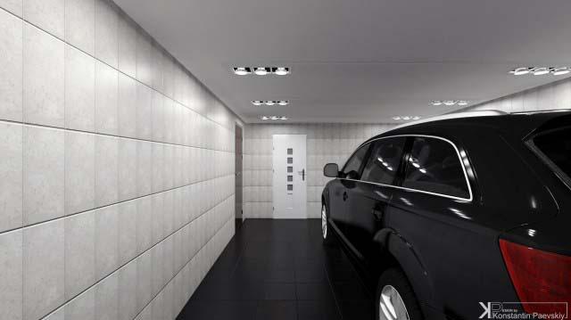 дизайн интерьера гаража таунхауса