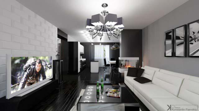 Дизайн гостиной в современном стиле