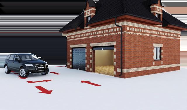 дизайн гаража коттеджа