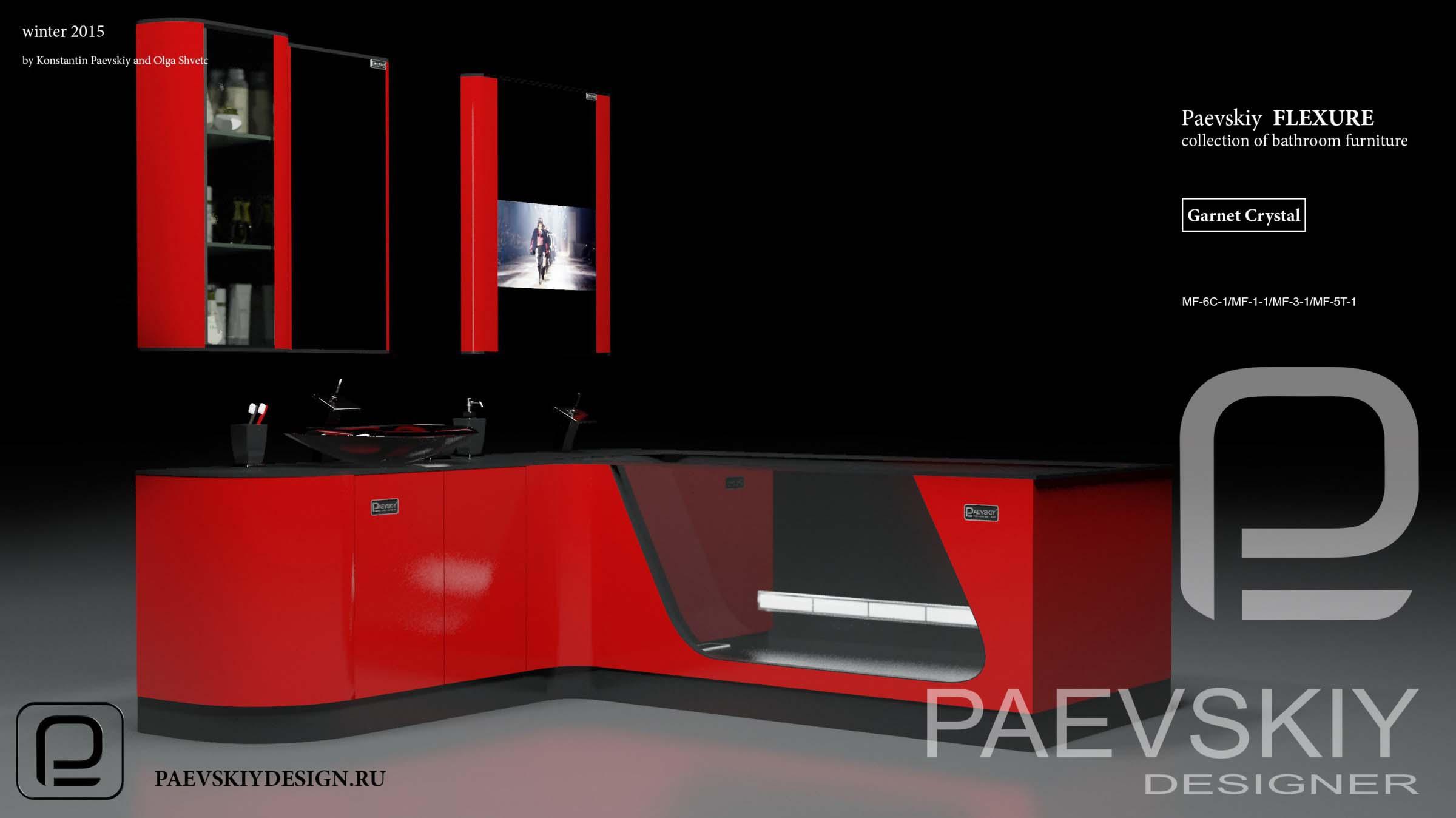 Мебель для ванной FLEXURE Garnet Crystal-02