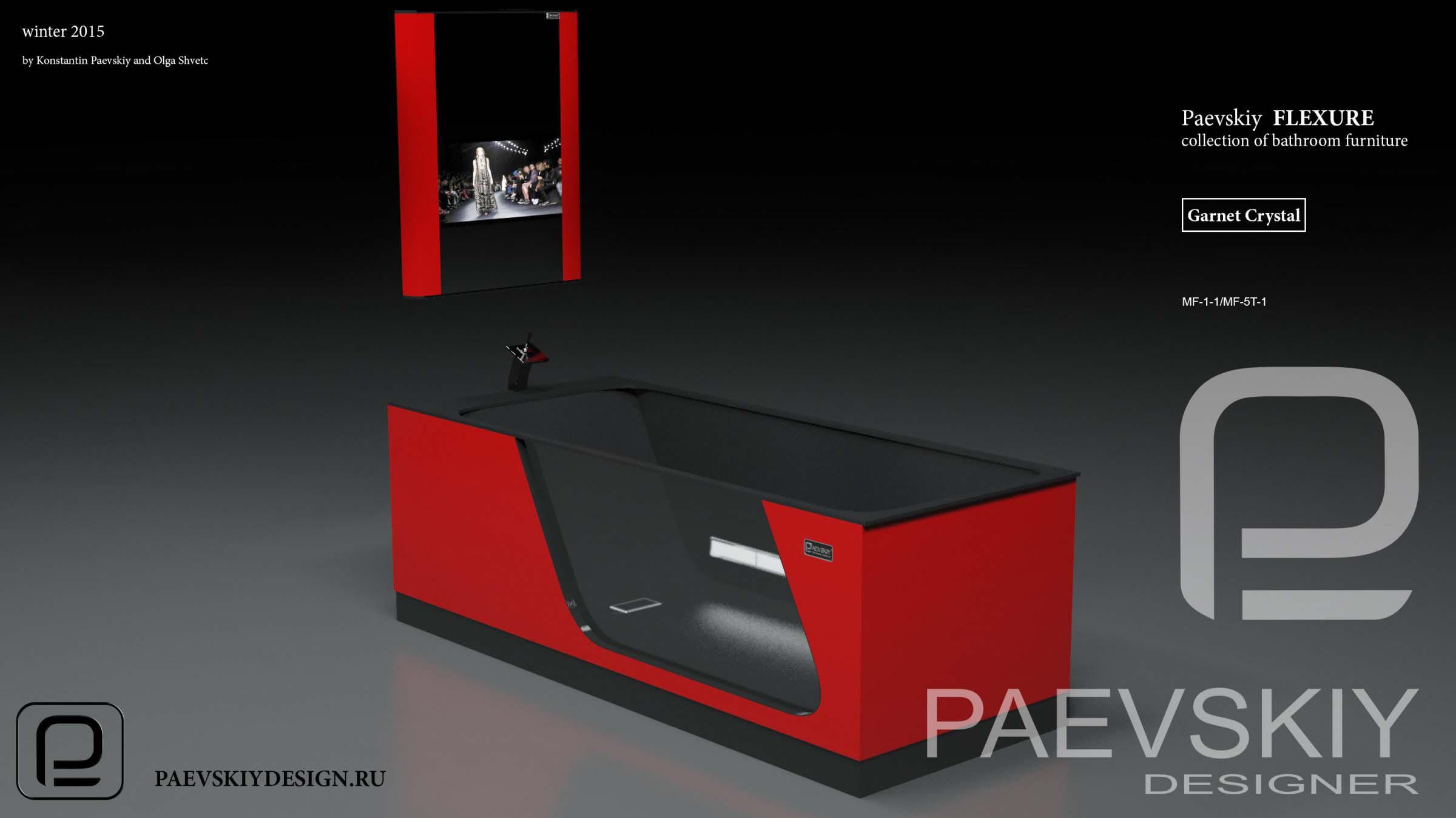 Мебель для ванной FLEXURE Garnet Crystal-05