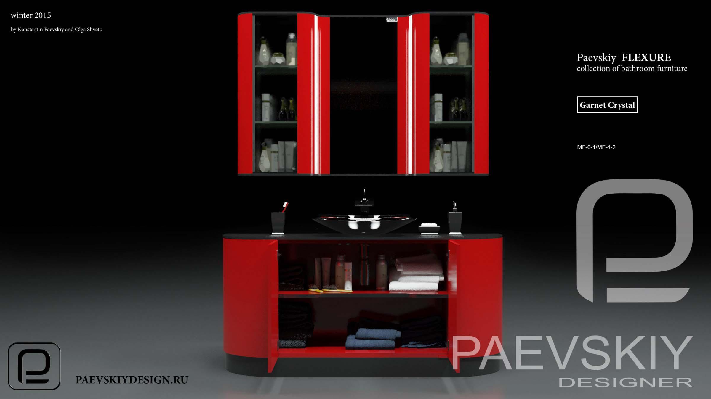 Мебель для ванной FLEXURE Garnet Crystal-07