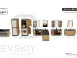 Наборная мебель для ванной FLEXURE Morus Tinctoria