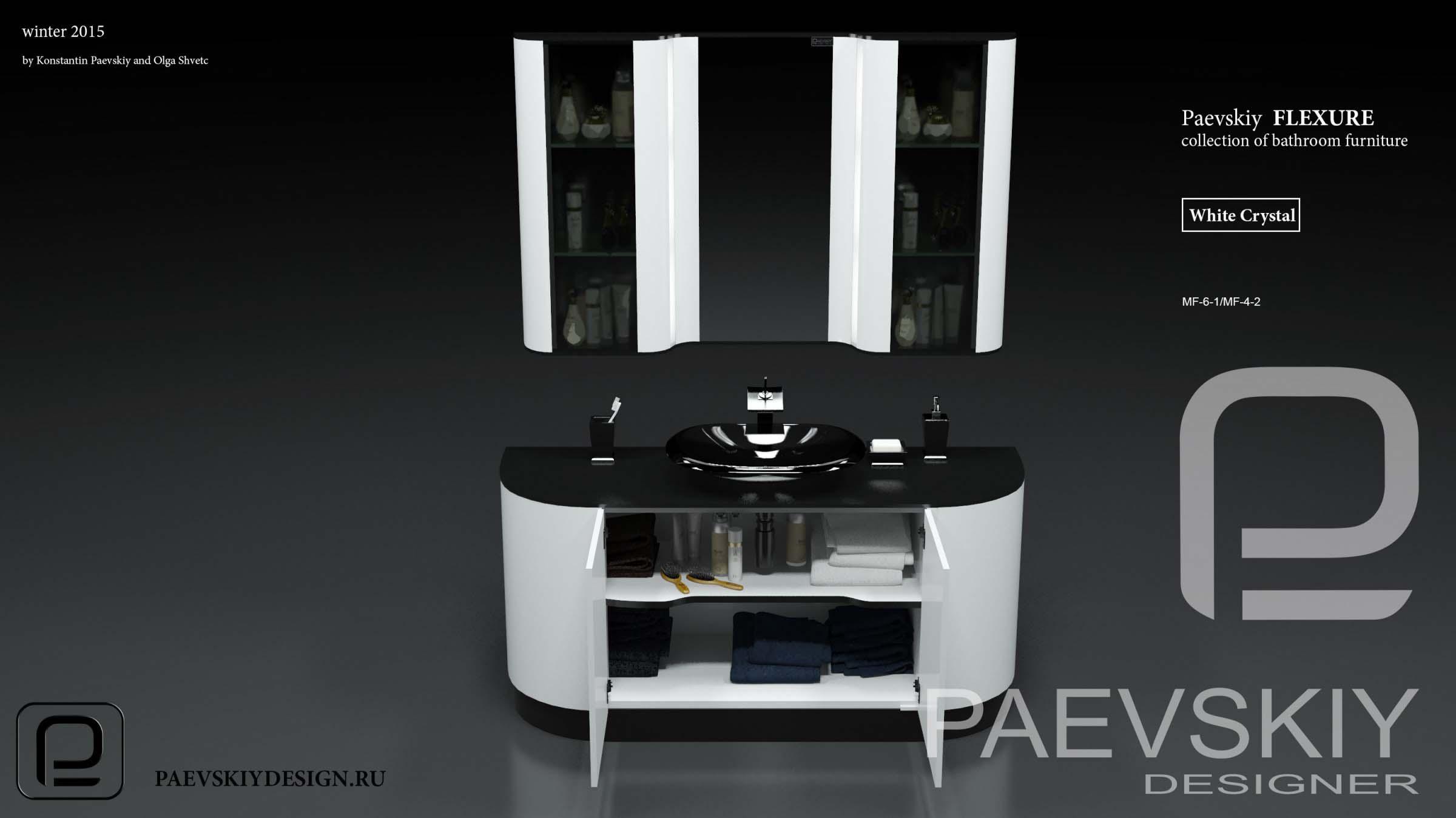 Наборная мебель мебель для ванной FLEXURE White crystal-05