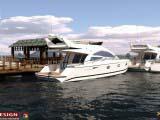 3d визуализация стоянки для яхт